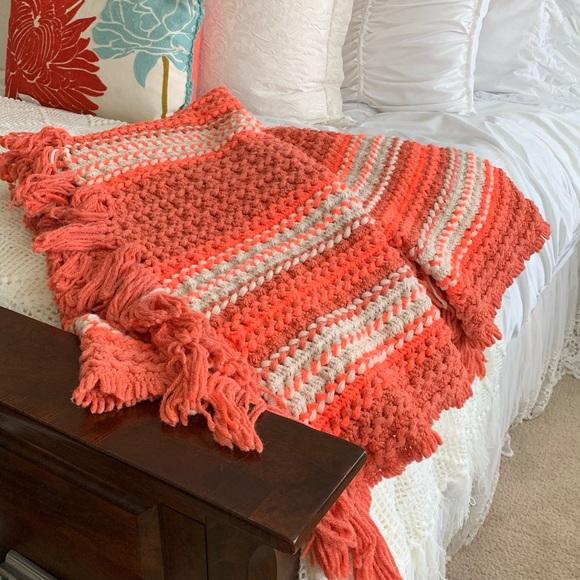 Other - Fall Handmade Multicolor AFGAN Lrg Crochet Blanket